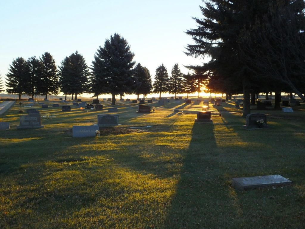 6B McClusky Cemetery in the Morning